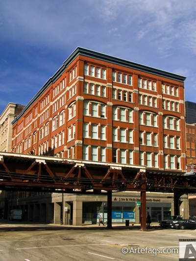 Photograph of George F. Kimball Building - 18 East Congress - Columbia College Chicago - Chicago, Illinois