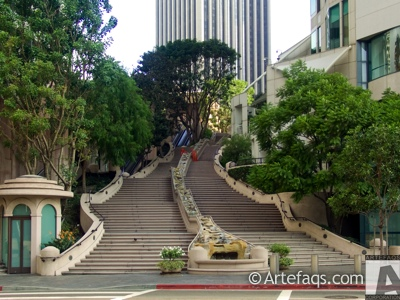 Stock photo of Bunker Hill Steps - Los Angeles, California