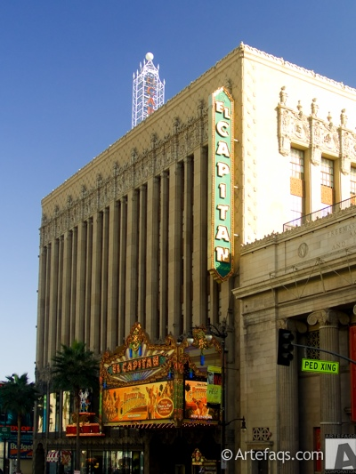 Stock photo of El Capitan Theatre - Los Angeles, California