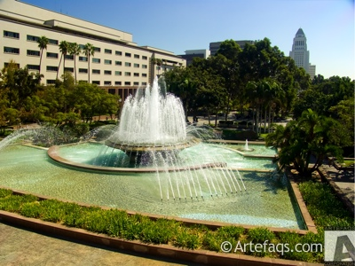 Stock photo of Los Angeles County fountain - Los Angeles, California