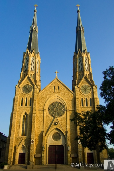 Photograph of Cathedral of Saint Mary - Peoria, Illinois