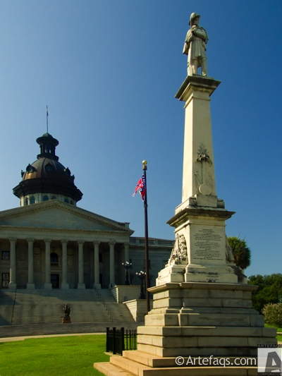 Photograph of Confederate Soldier Monument - Columbia, South Carolina
