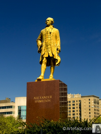 Photograph of Alexander Hamilton statue - Chicago, Illinois