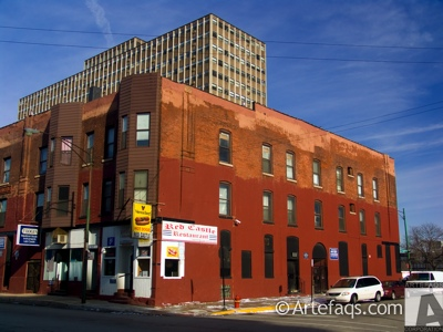 Stock photo of 1908-10 West Harrison - Chicago, Illinois -