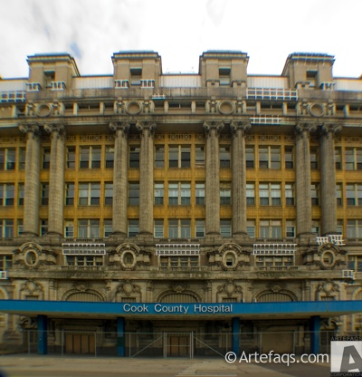 Stock photo of Stroger Cook County Hospital - Chicago, Illinois