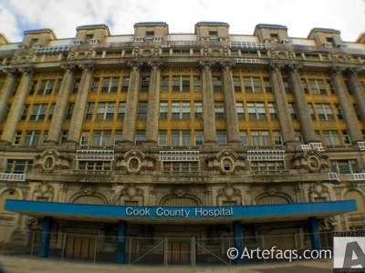Photograph of Stroger Cook County Hospital - Chicago, Illinois