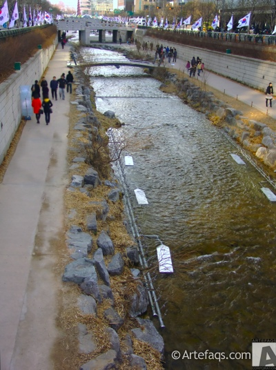 Photograph of Cheonggyecheon Stream - Seoul, South Korea -