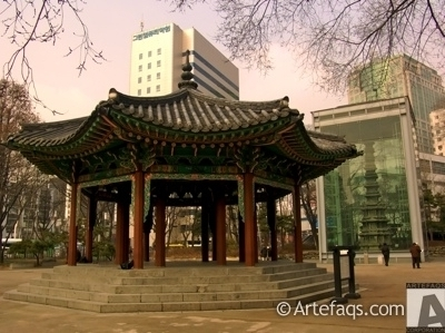 Photograph of Octagonal Building of Tapgol Park - Seoul, South Korea