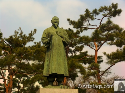 Stock photo of Statue of Son Byeong-hee - Seoul, South Korea