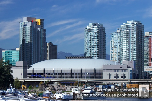 Stock photo of Canada Hockey Place - General Motors Place - Vancouver, British Columbia