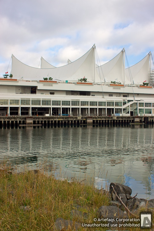 Stock photo of Canada Place - 2010 Winter Games Main Media Centre - Vancouver, British Columbia