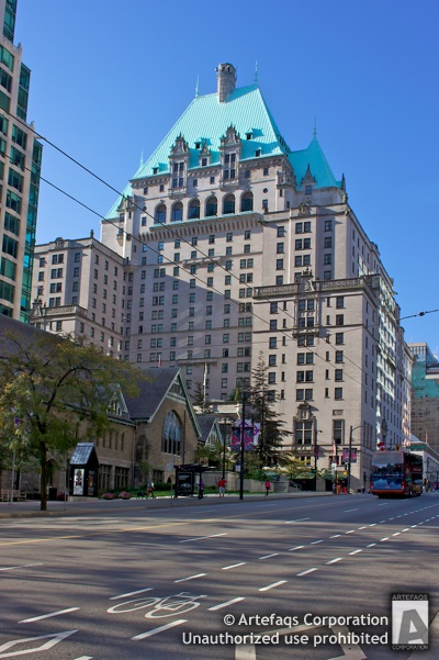 Stock photo of Fairmont Hotel Vancouver - Vancouver, British Columbia