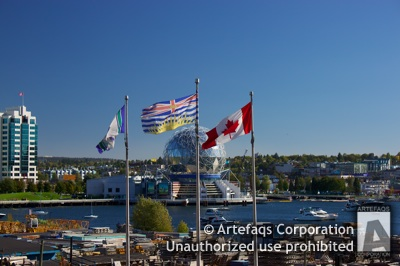 Stock photo of Flags - Vancouver, British Columbia