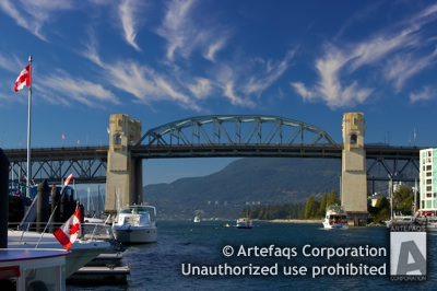 Stock photo of Burrard Street Bridge - Vancouver, British Columbia