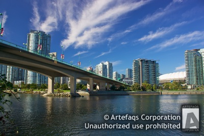 Stock photo of Cambie Street Bridge - Vancouver, British Columbia