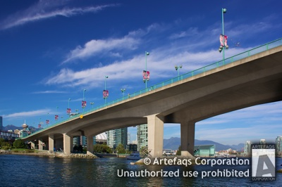 Stock photo of Cambie Street Bridge, Vancouver, British Columbia