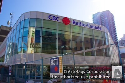 Stock photo of CBC Regional Broadcast Centre - Vancouver, British Columbia