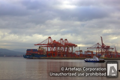 Stock photo of Centerm Container Terminal - Vancouver, British Columbia