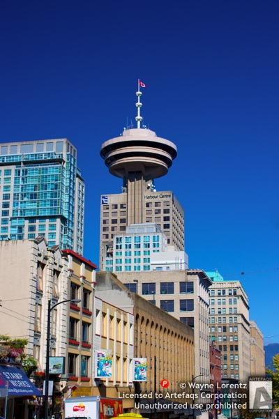Stock photo of Harbour Centre, Vancouver, British Columbia