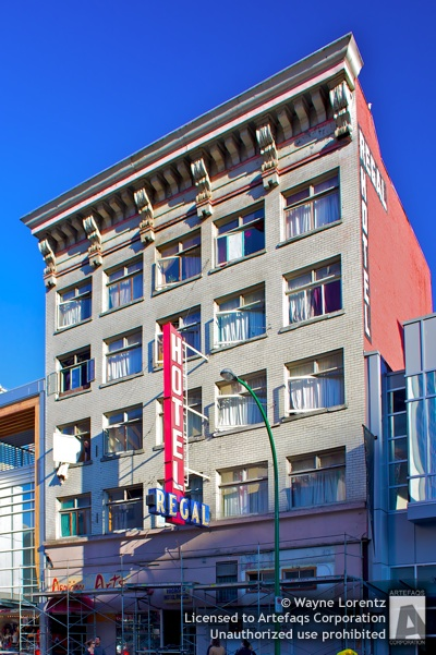 Photograph of Hotel Regal - Vancouver, British Columbia