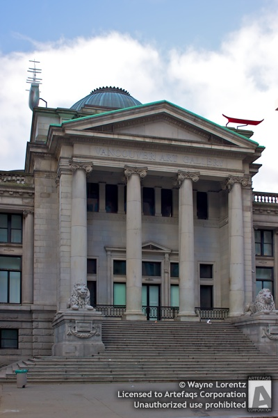 Stock photo of Vancouver Art Gallery - Vancouver, British Columbia