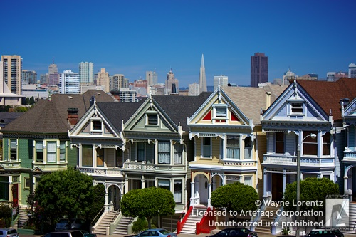Stock photo of Painted Ladies, San Francisco, California, A