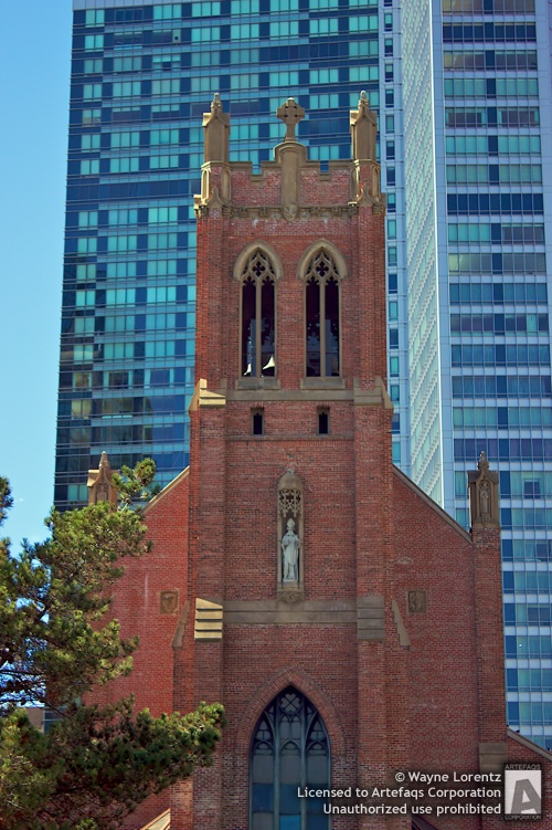 Stock photo of Saint Patrick Catholic Church, San Francisco, California