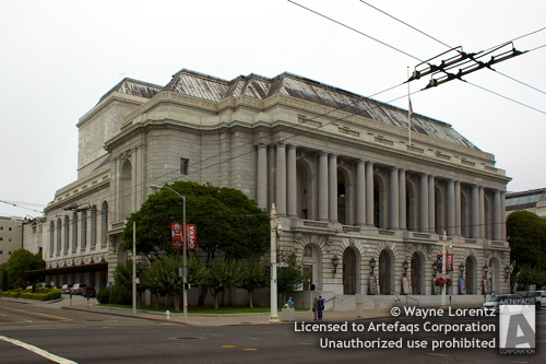 Stock photo of War Memorial Opera House - San Francisco, California
