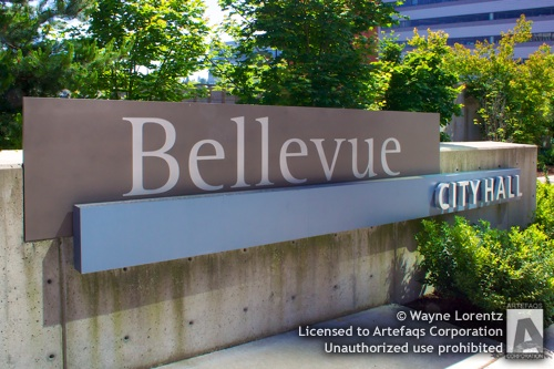 Stock photo of Bellevue City Hall - Bellevue, Washington