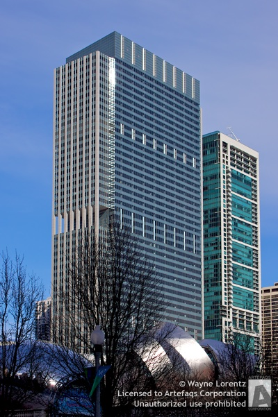 Stock photo of Blue Cross Blue Shield Tower - Chicago, Illinois