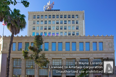 Stock photo of Farmers and Merchants Bank Building - Long Beach, California