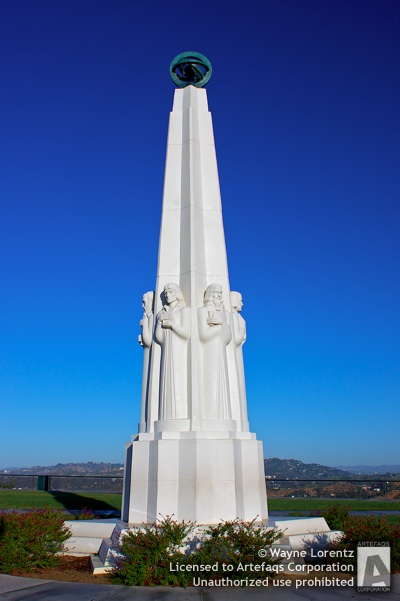 Stock photo of Astronomers Monument - Los Angeles, California