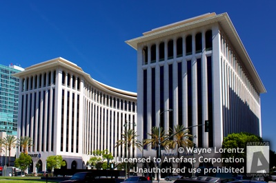 Stock photo of Wilshire Colonnade - Los Angeles, California