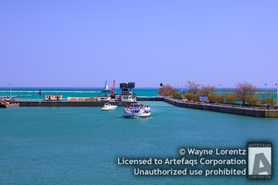 Stock photo of Chicago Harbor Lock - Chicago, Illinois