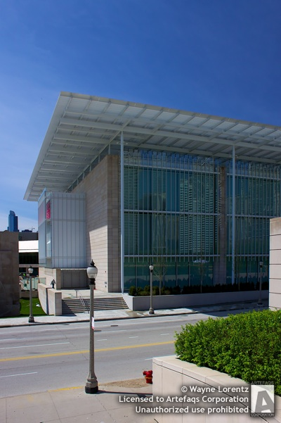 Stock photo of Art Institute of Chicago Modern Wing - Chicago, Illinois