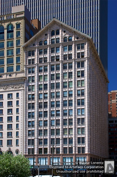 Stock photo of Monroe Building - Chicago, Illinois