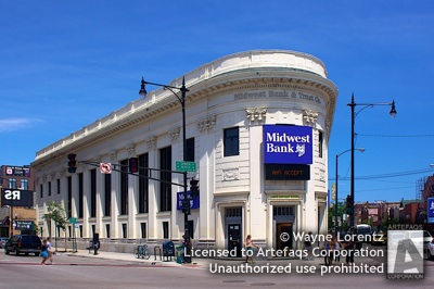Photograph of Noel State Bank Building, 1608 North Milwaukee Avenue - Chicago, Illinois
