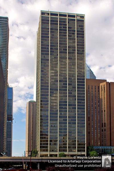 Stock photo of Columbus Plaza - Chicago, Illinois