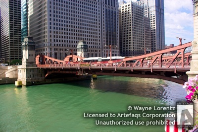 Stock photo of LaSalle Street Bridge - Chicago, Illinois