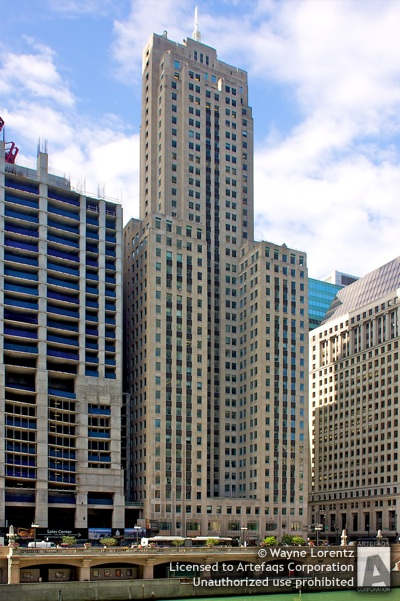 Stock photo of LaSalle Wacker Building - Chicago, Illinois