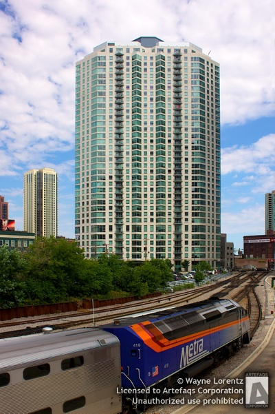 Stock photo of Left Bank at K Station - Chicago, Illinois