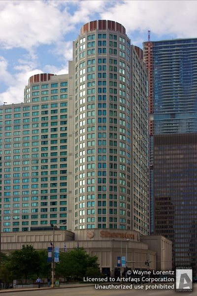 Stock photo of Sheraton Hotel and Towers - Chicago, Illinois
