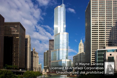 Stock photo of Trump International Hotel and Tower - Chicago, Illinois