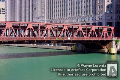 Stock photo of Wells Street Bridge - Chicago, Illinois