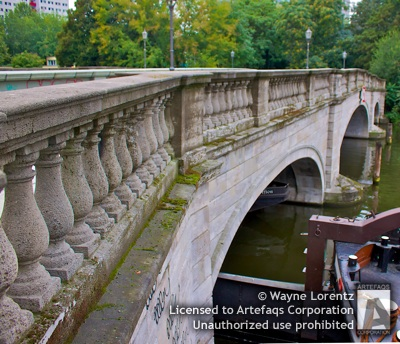 Stock photo of Inselstrasse Bridge - Berlin, Germany