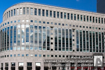 Stock photo of 20 Cabot Square, London, England