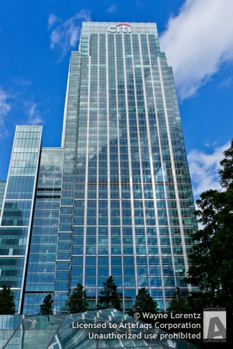 Stock photo of 25 Canada Square, London, England