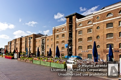 Stock photo of Cabot Place East - London, England