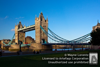 Stock photo of Tower Bridge, London, England