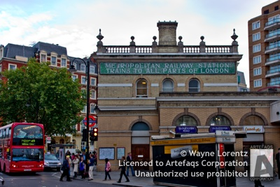 Stock photo of Gloucester Road Station - London, England